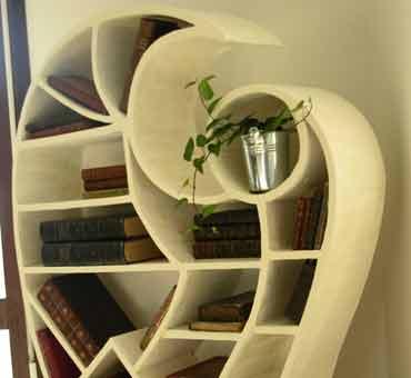 kite bibliotheque meuble en carton lau creation fabricant de mobilier en carton mod les. Black Bedroom Furniture Sets. Home Design Ideas